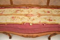 Antique French Carved Walnut Bergere Sofa (7 of 15)