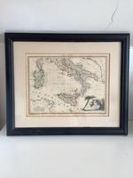 Antique Framed Map of Italy, Engraving By J B Tardieu after Giraldon (2 of 9)