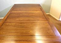 Large Antique Oak Extending Drawleaf Dining Table (13 of 15)