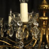French Gilt & Crystal 12 Light Antique Chandelier Oka04051 (5 of 10)