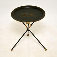 Antique Folding Tole Side Table (6 of 12)