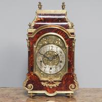 Tortoiseshell & Ormolu Mantel Clock (2 of 9)