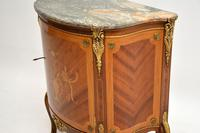 Antique French Inlaid  Marquetry Marble Top Cabinet (10 of 10)