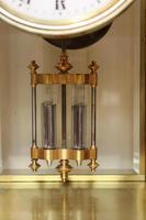 Bell Striking Brass Four Glass Clock (8 of 9)