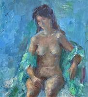 Original Vintage Antique Impressionist Erotica Nude Oil Portrait Painting (6 of 11)