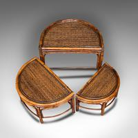 Antique Set of Nesting Tables, Oriental, Bamboo, Occasional, Side, Edwardian (9 of 10)