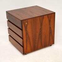 Danish Rosewood Filing Chest of Drawers Vintage 1960's (2 of 9)