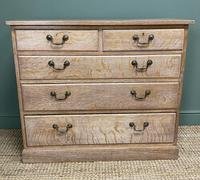 Superb Quality Limed Oak Antique Chest of Drawers (2 of 8)