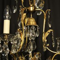 French Gilded Birdcage Antique Chandelier (4 of 7)