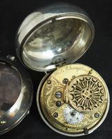 Antique Silver Pair Case Pocket Watch Fusee Verge Escapement Key Wind Enamel Dial W J Wolverhampton (2 of 11)