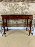 Victorian Mahogany Writing Desk with Green Leather (8 of 9)