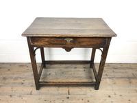 18th Century Oak Side Table (3 of 14)