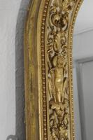 Painted and Parcel-Gilt Arch Top Overmantle Mirror by Nosotti (9 of 15)