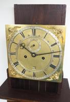 17THC Pin Wheel English Longcase Clock Pearl Oyster Veneer William & Mary Style Case 8-Day Striking Grandfather Clock (3 of 7)