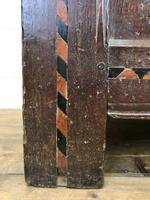 18th Century Oak Coffer with Inlay (8 of 13)