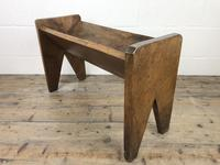 Early 20th Century Wooden Book Trough (4 of 8)