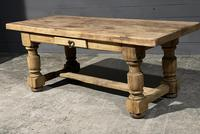 Rustic French Oak Farmhouse Kitchen Dining Table (9 of 16)