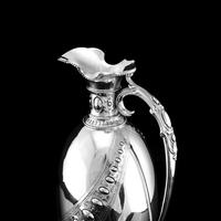 Antique Victorian Solid Silver Wine Ewer / Claret Jug - Barnard 1872 (9 of 19)