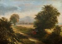 19thc British School - Travellers at Rest - Stunning Landscape Oil Painting (2 of 12)