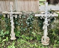 Large Architectural French Cast Iron Cross (4 of 4)