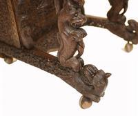 Burmese Davenport Desk Antique Hand Caved Burma Furniture 1885 (5 of 11)