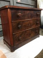 Victorian Flame Mahogany Chest of Drawers (2 of 4)