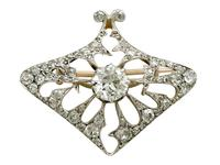 4.21ct Diamond & 18ct Yellow Gold Pendant / Brooch - Antique French c.1900 (4 of 16)
