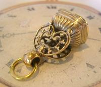 Antique Pocket Watch Chain Fob 1890s Victorian Large Gilt & Carnelian Samuel Fob (8 of 12)