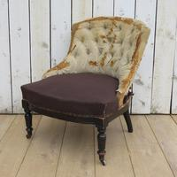Antique French Button Back Tub Chair (8 of 8)