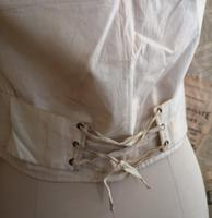 Antique Victorian Ivory Colour Silk Waistcoat (6 of 12)