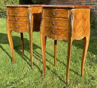 Pair of French Marquetry Bedside Tables (4 of 6)