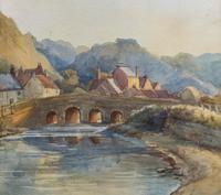 Large Original 19th Century Antique Yorkshire Landscape Watercolour Painting (3 of 11)