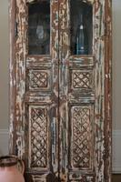Unique Tall Two Door Teak & Painted Cabinet (9 of 16)