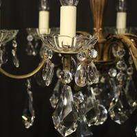 French Gilded 6 Light Chandelier c.1930 (4 of 10)