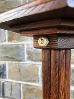 Art Deco Oak Standard Lamp (6 of 7)