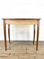 Reproduction Mahogany Bow Front Side Table (9 of 9)