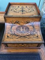 Inlaid Satinwood Carlton House Desk By Maple & Co (14 of 16)