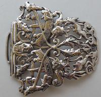 1895 Julius Louis Rosenthal London Hallmarked Solid Silver Nurses Belt Buckle (4 of 7)