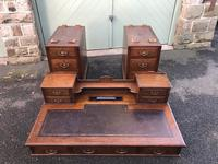 Antique Oak Pedestal Writing Desk (Pri) (7 of 13)
