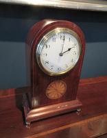 Antique Sheraton Inlaid 8 Day Mantel Clock