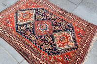 Antique Qasgai Tribal Rug 158x115cm (2 of 5)
