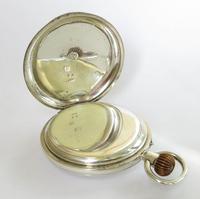 Antique Silver English Half Hunter Pocket Watch (5 of 5)