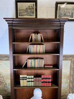 Superb Large 19th Century Mahogany Open Bookcase (6 of 8)