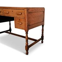 Lovely Little Vintage Desk with Green Leather Top & Drawers c.1970 (7 of 8)