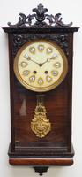 Rare Early Wall Clock Large Dial Rosewood 8 Day Striking Vienna Wall Clock (5 of 10)