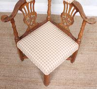 Georgian Corner Elbow Chair Beech (10 of 10)