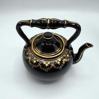 Jackfield Ware Teapot & Stand c.1840 (7 of 7)