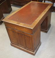 1920s Oak Desk with Red Leather Inset . 1 Piece. (2 of 4)