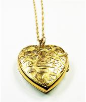Antique Gold Hallmarked Locket 1906 with Necklace (3 of 11)