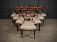 Set of 10 Kidney Back Mahogany Dining Chairs (3 of 17)